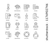 set of 16 simple line icons... | Shutterstock .eps vector #1176902746