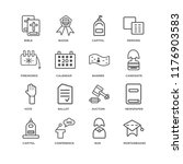 set of 16 simple line icons... | Shutterstock .eps vector #1176903583
