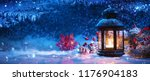 winter decoration with a... | Shutterstock . vector #1176904183