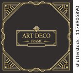 art deco border and frame.... | Shutterstock .eps vector #1176905890