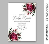 marsala peony rose wedding... | Shutterstock .eps vector #1176909430