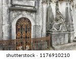 old european cemetery weathered ... | Shutterstock . vector #1176910210