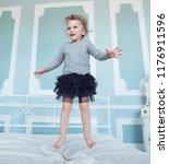 happy five year old girl...   Shutterstock . vector #1176911596