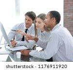 business team discussing...   Shutterstock . vector #1176911920