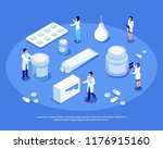 isometric set of medical... | Shutterstock .eps vector #1176915160