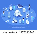 isometric set of medical... | Shutterstock .eps vector #1176915766