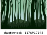 landcape forest vector | Shutterstock .eps vector #1176917143