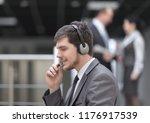 close up.employee call center...   Shutterstock . vector #1176917539