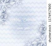 blue merry christmas greetings... | Shutterstock .eps vector #1176917800