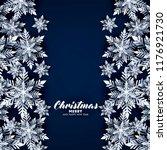 blue merry christmas greetings... | Shutterstock .eps vector #1176921730