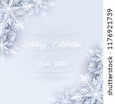 blue merry christmas greetings... | Shutterstock .eps vector #1176921739