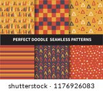 autumn seamless pattern ... | Shutterstock .eps vector #1176926083
