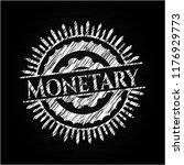 monetary chalk emblem | Shutterstock .eps vector #1176929773