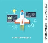 business startup concept banner.... | Shutterstock .eps vector #1176930169