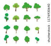 set vector  of flat trees... | Shutterstock .eps vector #1176930640