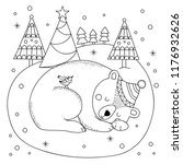 Coloring Page Of Cute Polar...