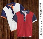 two designs   t shirt mockup ... | Shutterstock . vector #1176933739