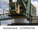 the pulpit of a transport crane ... | Shutterstock . vector #1176942706