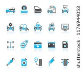 car part and services icons 1 ... | Shutterstock .eps vector #1176944053
