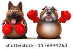 german shepherd dog and english ... | Shutterstock . vector #1176944263