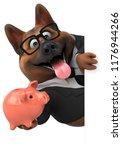 german shepherd dog   3d...   Shutterstock . vector #1176944266