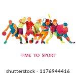 color sport background.... | Shutterstock .eps vector #1176944416