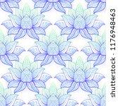 lotus flower sacred geometry... | Shutterstock .eps vector #1176948463