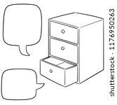 vector set of drawer | Shutterstock .eps vector #1176950263