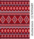 knitted chrismas rug tribal... | Shutterstock . vector #1176950689