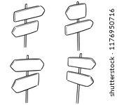 vector set of direction post   Shutterstock .eps vector #1176950716