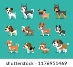different type of cartoon dogs... | Shutterstock .eps vector #1176951469