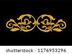 gold ornament on black | Shutterstock .eps vector #1176953296