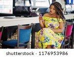cute small height african... | Shutterstock . vector #1176953986