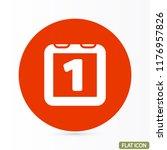 calendar vector icon | Shutterstock .eps vector #1176957826