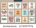 hand drawn typography posters... | Shutterstock .eps vector #1176957976