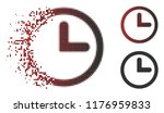 clock icon in dissolved ... | Shutterstock .eps vector #1176959833