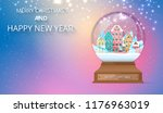 merry christmas and happy new... | Shutterstock .eps vector #1176963019