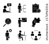 business management glyph icons ... | Shutterstock .eps vector #1176963316