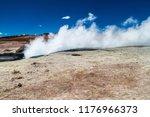 one of geysers in geyser basin...   Shutterstock . vector #1176966373