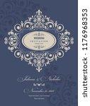 wedding invitation cards ... | Shutterstock .eps vector #1176968353