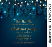 christmas party invitation fir... | Shutterstock .eps vector #1176970606