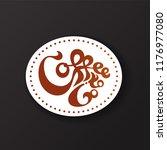coffee to go sticker concept.... | Shutterstock .eps vector #1176977080