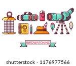 birding icon set with... | Shutterstock .eps vector #1176977566