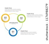 infographic template with... | Shutterstock .eps vector #1176988279