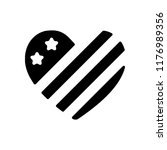 simple usa flag icon. heart... | Shutterstock .eps vector #1176989356