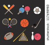 abstract style sports equipment ... | Shutterstock .eps vector #117698983