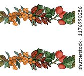 autumn border illustration... | Shutterstock .eps vector #1176990256