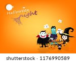 halloween party poster  vampire ... | Shutterstock .eps vector #1176990589