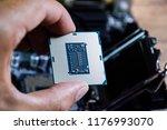the processor is a desktop... | Shutterstock . vector #1176993070