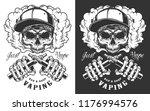 vaping apparel design with... | Shutterstock .eps vector #1176994576
